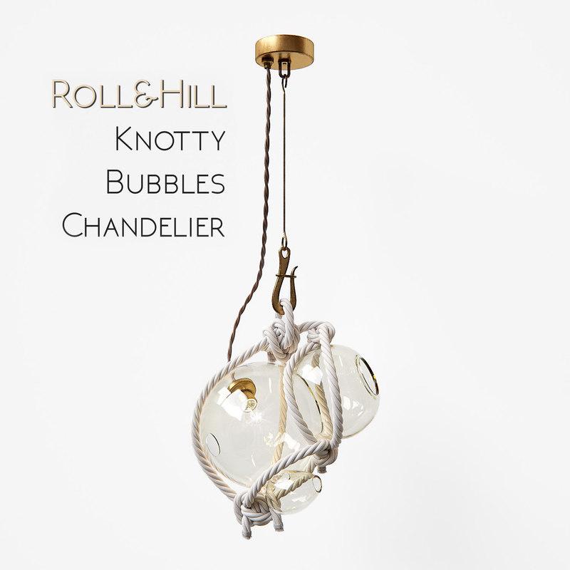 knotty bubbles chandelier 3d model