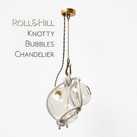 knotty bubbles chandelier 3d model