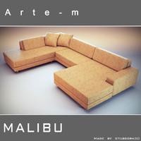 sofa malibu 3d model