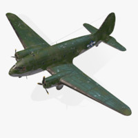 american curtiss c-46 commando 3d max