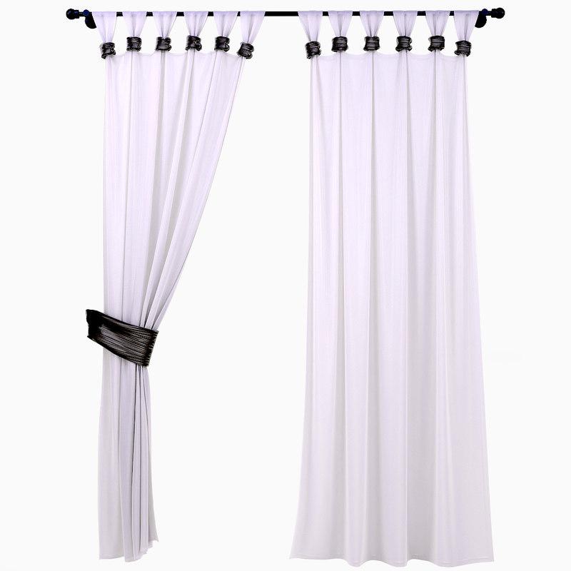 curtains garters 3d model
