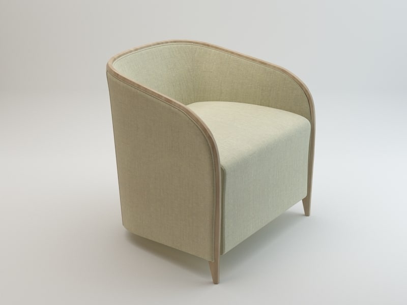 3d bross brig 1600 armchair model
