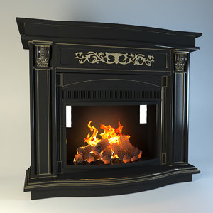 3d model of fireplace