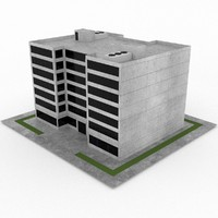 3d model of office build 10