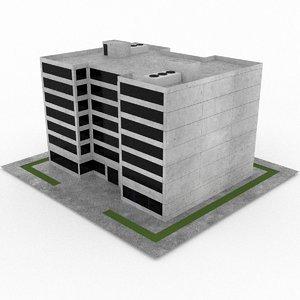 3d model of office build 10