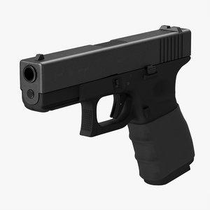 glock 19 handle c4d
