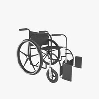 wheelchair 3d model