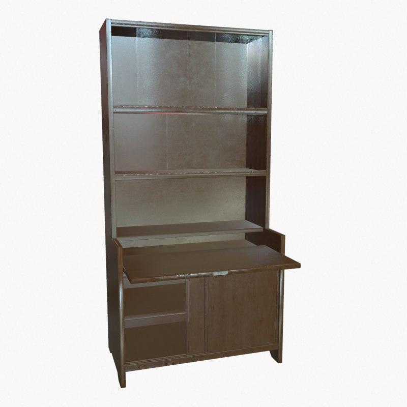 book bookcase 3d max