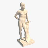 statue mars 3d obj
