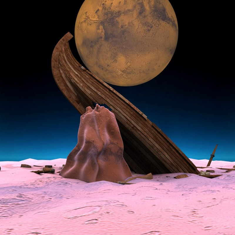 3d model of mystic ancient space sunken