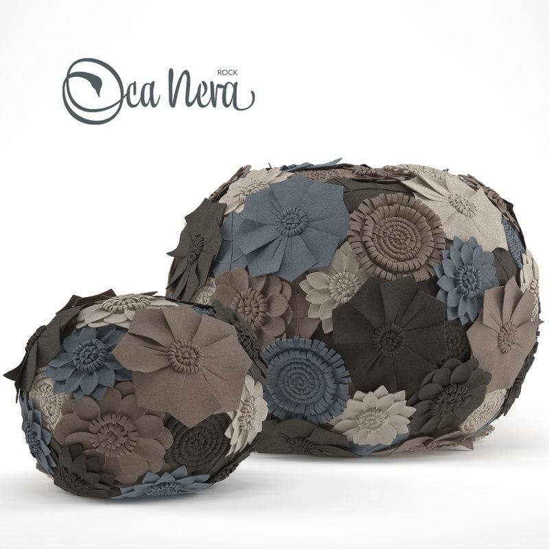 3d model ottoman loca-nera pouf