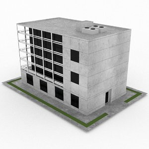 3d office build 11 model