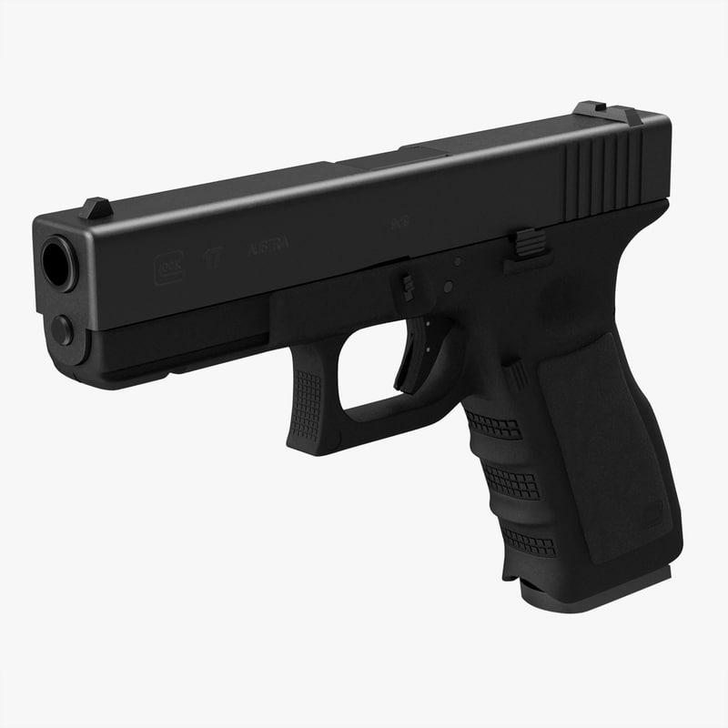 glock 17 c4d