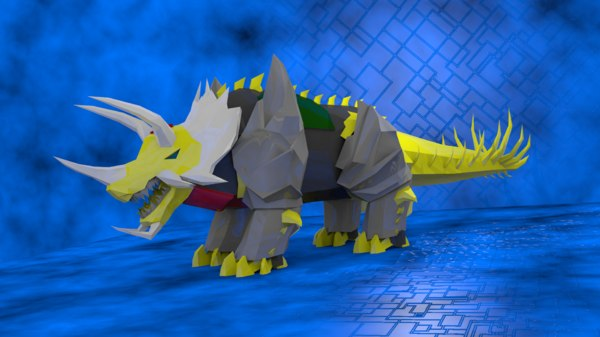 3d 3ds triceratops