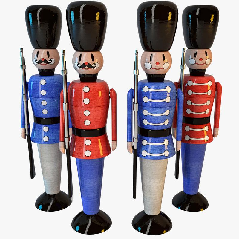 soldier toy 3d obj