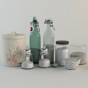 3d model decorative kitchen set