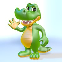 max rigged cartoon crocodile