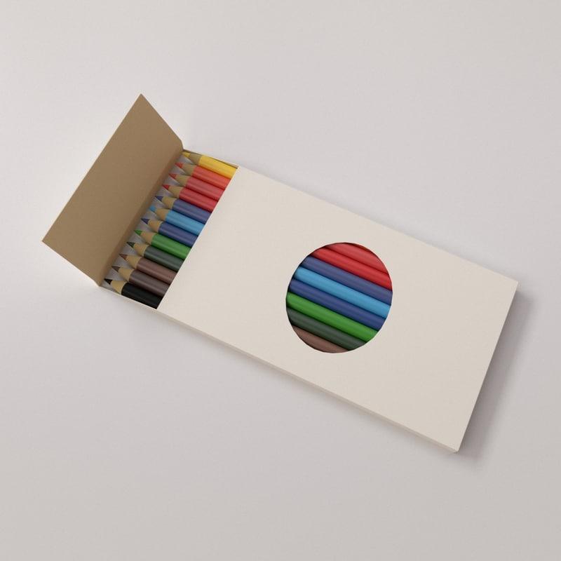 3d colour pencil model