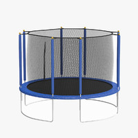 recreational trampoline 3d max