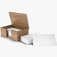 business cards box 3d model