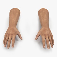 man hands fur 3d model
