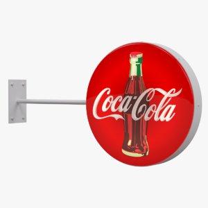 3d coca-cola sign model