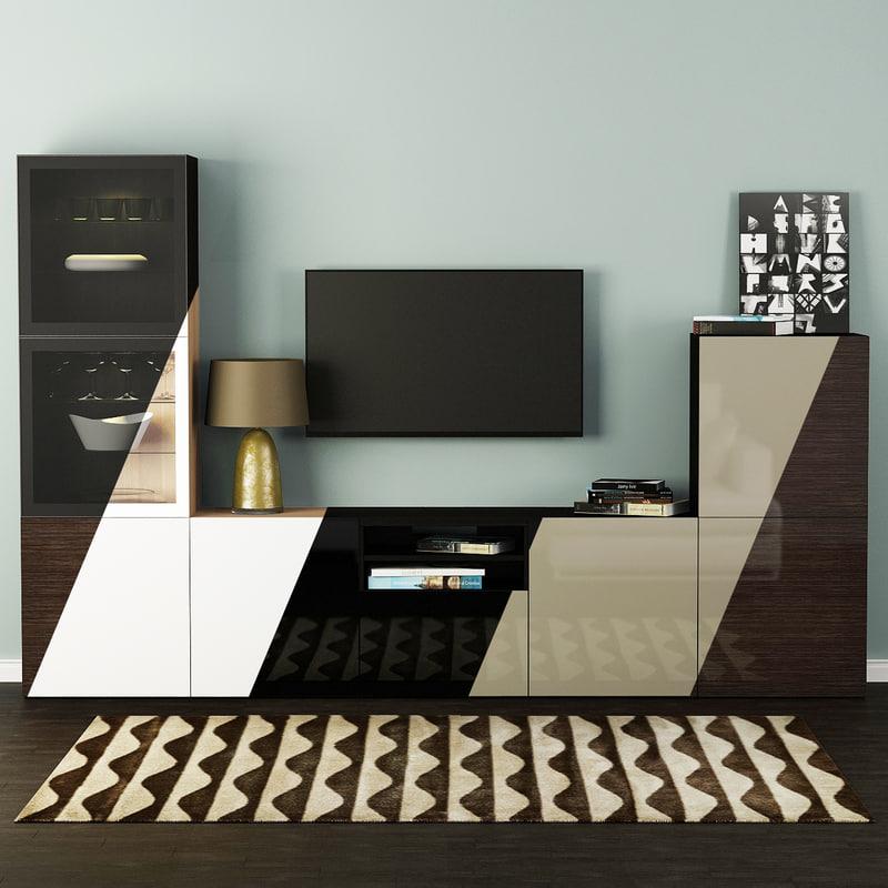 3d model decor tv selsviken