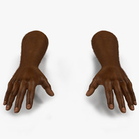 african man hands fur 3d model