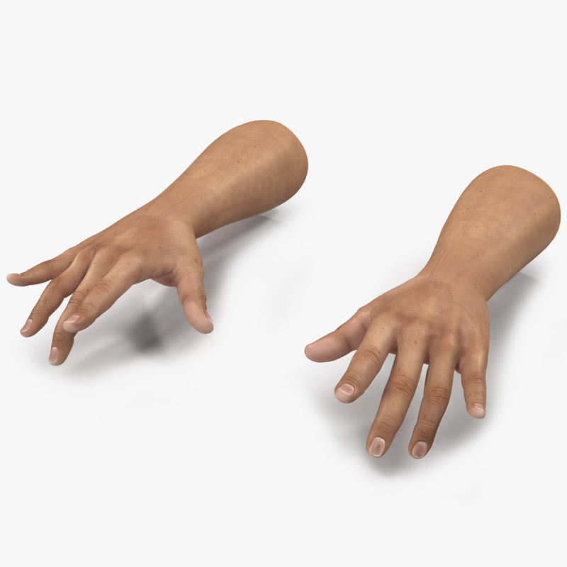 3d model of man hands pose 3