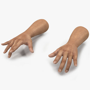 3d model of man hands pose 3
