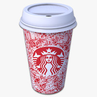 Takeout Coffee Cup (Starbucks Holiday Design)