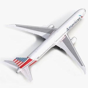 boeing 767-400er american airlines 3d model