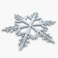 snowflake crystal 3d 3ds