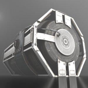 futuristic emergency backup generator 3d model