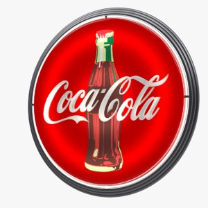 coca-cola vintage wall sign 3d max