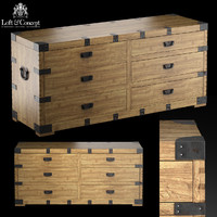 dresser vintage antique oak 3d max