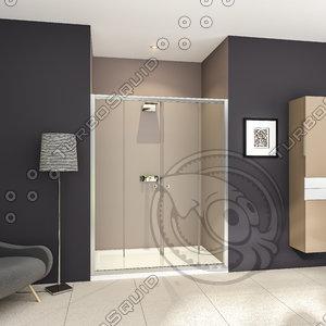 shower cabin bathroom 3d model