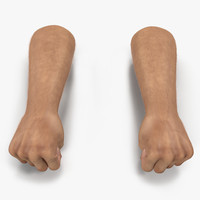 3d man hands fur pose