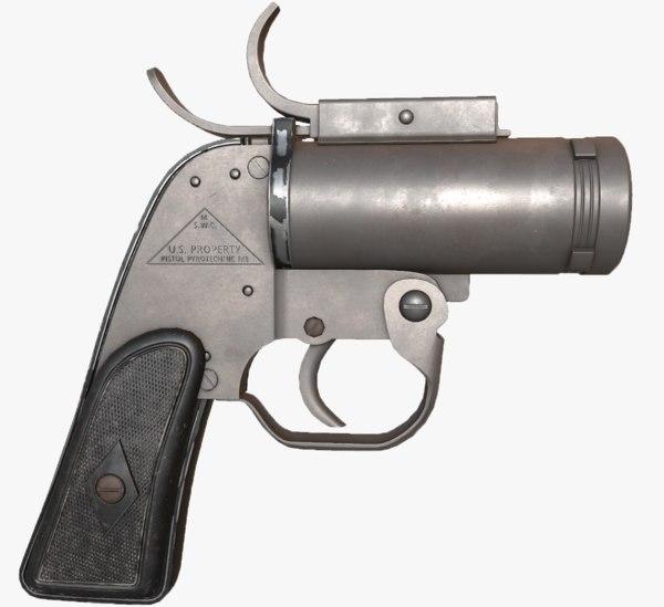 3d anm8 flare gun