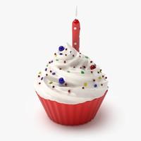 3d model cupcake real realistic