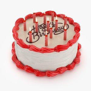 3d birthday cake model