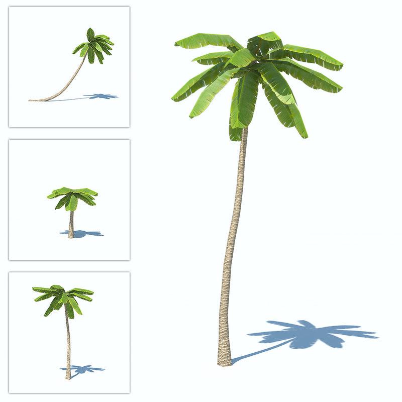 obj palms low-poly
