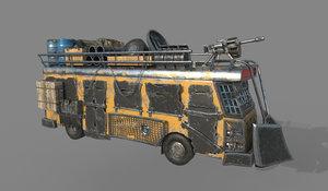 apocalypse bus 3d obj