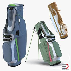 golf bags 3 nike c4d
