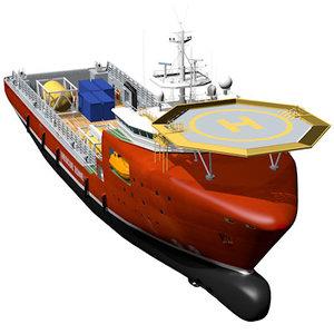 3d model supply vessel