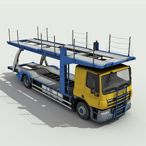 3d model car carrier truck -