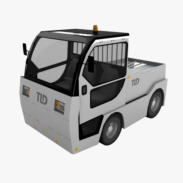 tld jet-16 baggage tractor 3d 3ds