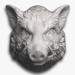 3d boar head