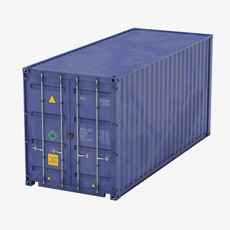 shipping container 3d max