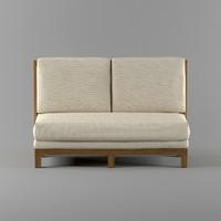 3d sofa cafe model
